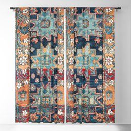 Karabakh  Antique South Caucasus Azerbaijan Rug Print Blackout Curtain