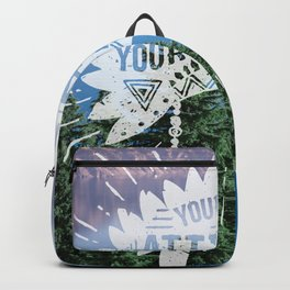 Your Vibe Attracts Your Tribe - Crater Lake Backpack
