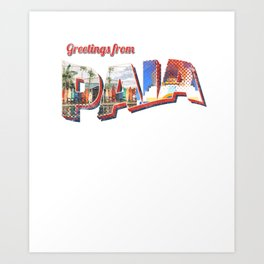 Greetings From Paia Beach Maui Postcard Art Print