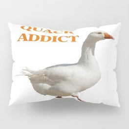 Strolling Duck Quack Addict Pillow Sham