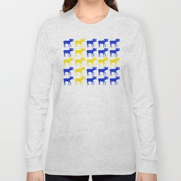 Graphic Swedish Moose Flag I Long Sleeve T-shirt