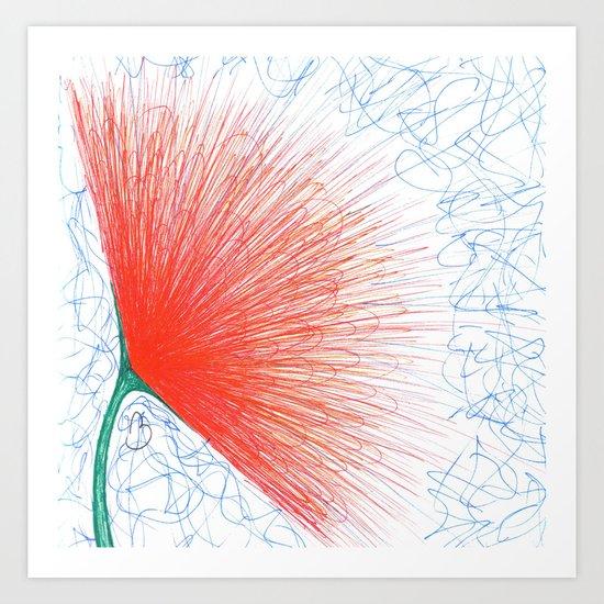 Puff Flower Art Print