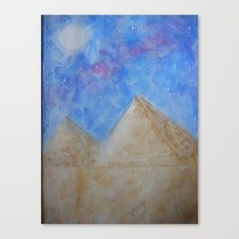 Night in the desert Canvas Print