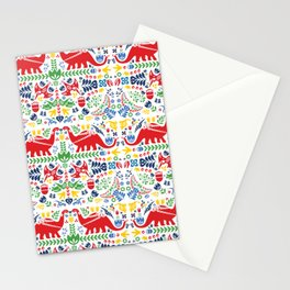Swedish Folk Art Dinosaurs Stationery Cards