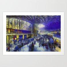 Kings Cross Station Van Gogh Art Print
