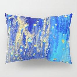 Blue & gold abstract 171010 Pillow Sham