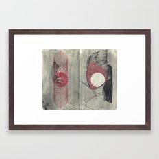 Obscure, Destroy Sketchbook Spread 4 Framed Art Print