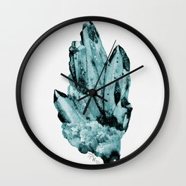 blue raspberry crystal cluster Wall Clock