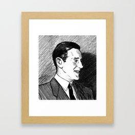"Portrait of Benjamin ""Bugsy"" Siegel Framed Art Print"