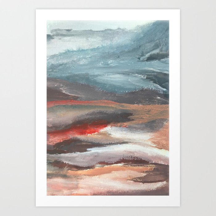 Serenity [2]: an acrylic piece in both warm and cool colors by Alyssa Hamilton Art Kunstdrucke