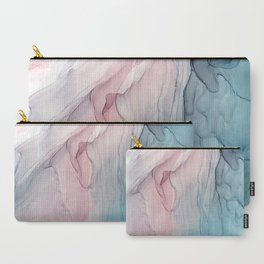 Calming Pastel Flow- Blush, grey and blue Carry-All Pouch