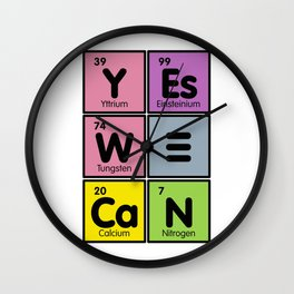 March for Science -Yes We Can Wall Clock
