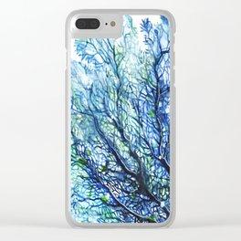 Fan Coral - Aqua Clear iPhone Case