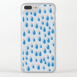3D Water Drops Clear iPhone Case