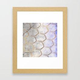 Gold Pattern on Concrete Framed Art Print