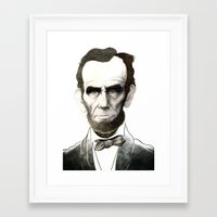 lincoln Framed Art Prints featuring Lincoln by C.M. Duffy