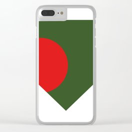 bangladesh flag Clear iPhone Case