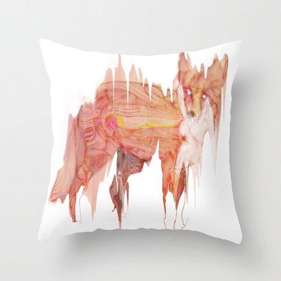 Remix Red Fox Throw Pillow
