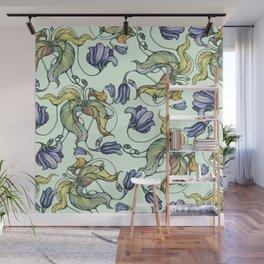 Vintage watercolor patterns Wall Mural