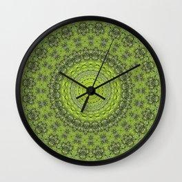 Green Tree Trunk 2 Wall Clock