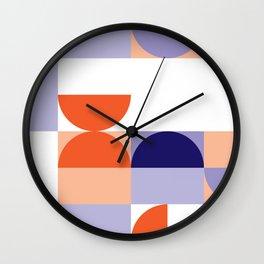 Minimal Bauhaus Semi Circle Geometric Pattern 1 - #bauhaus #minimalist Wall Clock