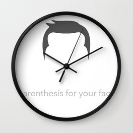 Sideburns - Parenthesis For Your Face Wall Clock