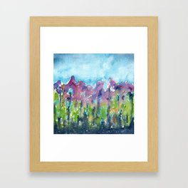 Misty Morning Flowers Framed Art Print
