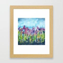 Misty Morning Flowers Framed Art Print
