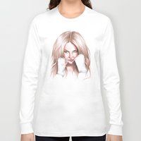 britney spears Long Sleeve T-shirts featuring Britney Spears Shape Magazine by Eduardo Sanches Morelli