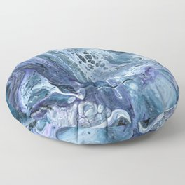 Waves - Original Abstract Acrylic Pour Painting Art Floor Pillow