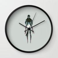 elf Wall Clocks featuring Dark Elf by Lunacy