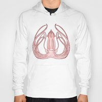 squid Hoodies featuring Squid by Yessica Illustration