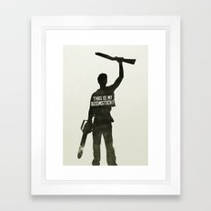 This is my Boomstick! Minimalist Poster Framed Art Print