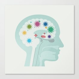 Brain at Work Canvas Print