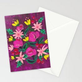 Magenta Blooms Stationery Cards