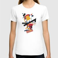 kandinsky T-shirts featuring TOO MANY THOUGHTS by THE USUAL DESIGNERS
