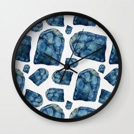 Alexandrite Birthstone Watercolor Illustration Wall Clock