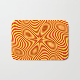 Red and Yellow Spiral illusion art Bath Mat