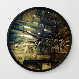 Lightscape II - urban decay photo Wall Clock