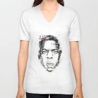 jay z V-neck T-shirts featuring Jay Z by I AM DIMITRI