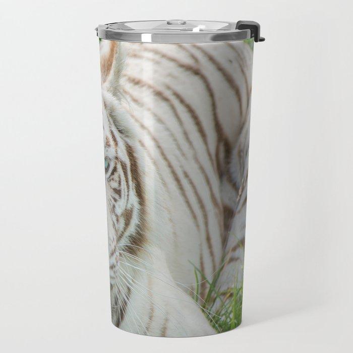 THE BEAUTY OF WHITE TIGERS Travel Mug