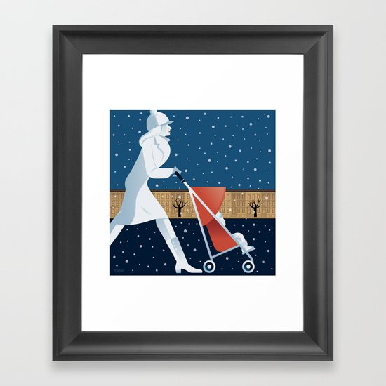 Park Slope Framed Art Print