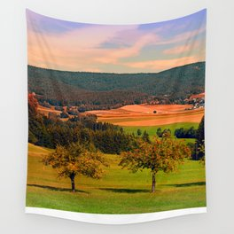 Two rival trees Wall Tapestry