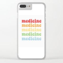 retro medicine Clear iPhone Case