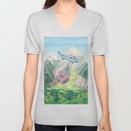 The House That Moved p.12 Unisex V-Neck