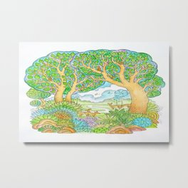 Enjoy the nature. Metal Print