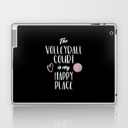 The volleyball court is my happy place Laptop & iPad Skin