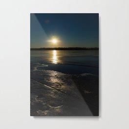 Sunset Over Freezing Lake 4 Metal Print