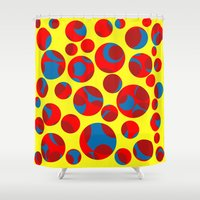 cheese Shower Curtains featuring Swiss cheese by Gaspar Avila