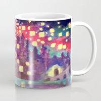 lanterns Mugs featuring Lanterns by Jadie Miller
